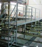 Ограждения пешеходных зон в производственных помещениях