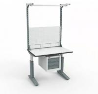 Стол монтажный ДиКом СР-100-02 ESD + Экран ВС-100-Э3 ESD
