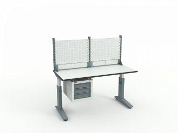 Стол монтажный ДиКом СР-150-02 ESD + Экран ВС-150-Э1 ESD