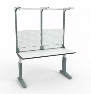 Стол монтажный ДиКом СР-150-01 ESD + Экран ВС-150-Э3 ESD