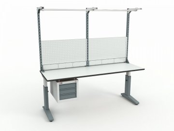 Стол монтажный ДиКом СР-200-02 ESD + Экран ВС-200-Э3 ESD