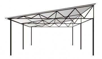 Навес металлический с односкатной крышей