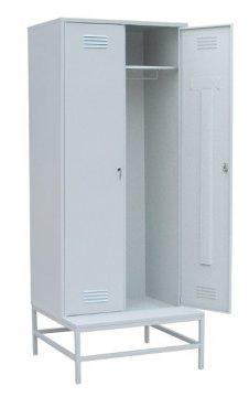 Шкаф гардеробный Эконом со скамейкой 2 секции