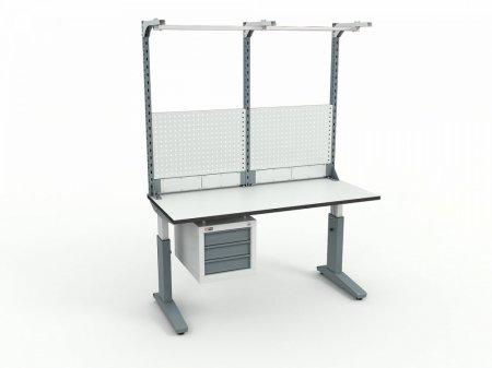 Стол монтажный ДиКом СР-150-02 ESD + Экран ВС-150-Э3 ESD
