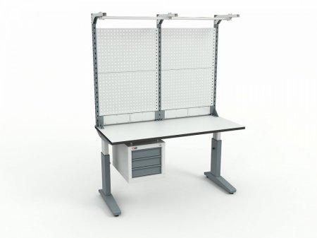 Стол монтажный ДиКом СР-150-02 ESD + Экран ВС-150-Э4 ESD