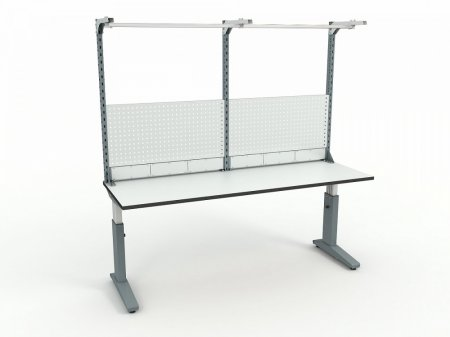 Стол монтажный ДиКом СР-200-01 ESD + Экран ВС-200-Э3 ESD