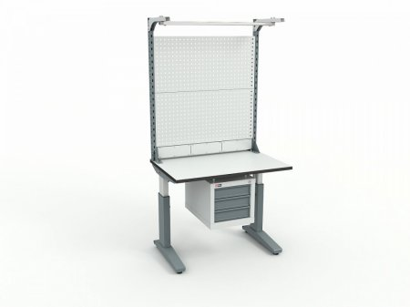 Стол монтажный ДиКом СР-100-02 ESD + Экран ВС-100-Э4 ESD
