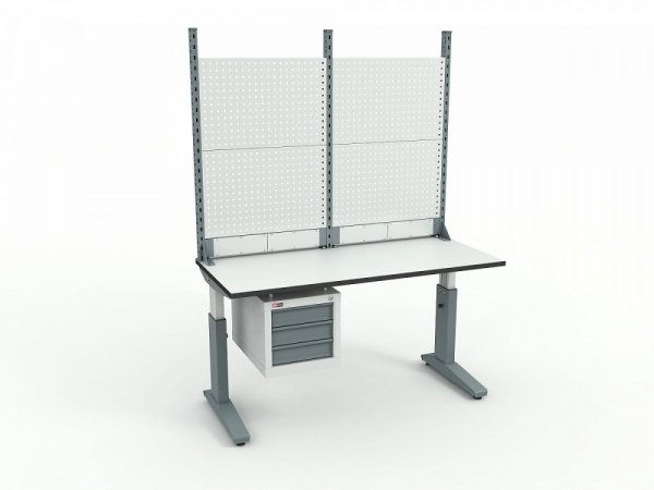 Стол монтажный ДиКом СР-150-02 ESD + Экран ВС-150-Э2 ESD