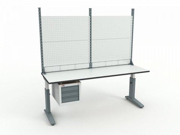 Стол монтажный ДиКом СР-200-02 ESD + Экран ВС-200-Э2 ESD